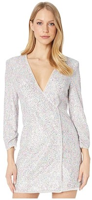 BCBGMAXAZRIA Sequin Dress (French Rose Combo) Women's Dress