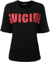 Filles a papa front print T-shirt - women - Viscose - 0