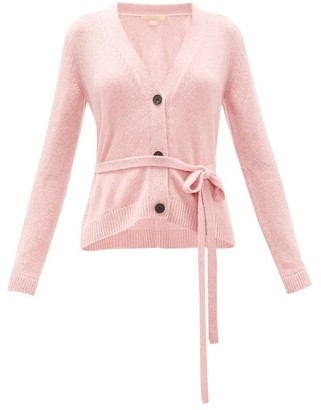 Brock Collection Belted Cashmere Cardigan - Womens - Light Pink