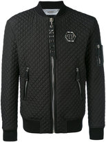 Philipp Plein quilted bomber jacket - men - Cotton/Nylon/Polyamide/Spandex/Elastane - M