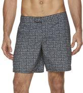 Marc Anthony Men's Slim-Fit Grid Swim Shorts