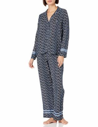 Tommy Hilfiger Women's Lounge Sleep Notch Collar Top & Pants Pajama Set