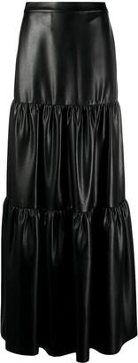 Pinko Faux Leather Maxi Skirt
