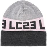 Lc23 - logo intarsia beanie hat - men - Merino - One Size
