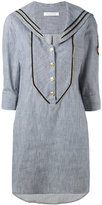 Pierre Balmain sailor collar dress - women - Cotton - 40