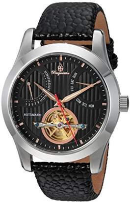 Burgmeister Men's Automatic Watch with Black Dial Analogue Display and Black Leather Bracelet BM224-122