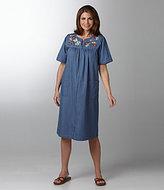 Go Softly Patio Denim Earthy Patio Dress