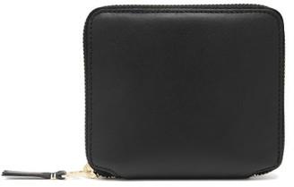 Comme des Garcons Zip-around Leather Wallet - Womens - Black