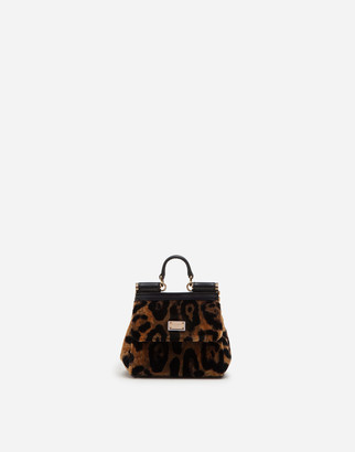 Dolce & Gabbana Micro Sicily Bag With Leopard Print