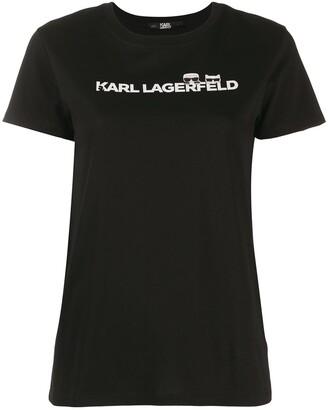 Karl Lagerfeld Paris Ikonik logo T-shirt