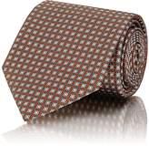 Brioni Men's Oval-Print Silk Necktie