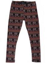 HDE Girls Winter Leggings Nordic Pattern Fleece Lined Pants (XS / 4/5 )