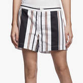 James Perse Striped Cotton Satin Short