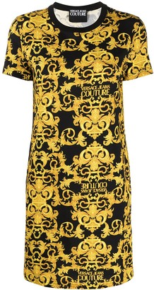 Versace Jeans Couture Logo Baroque-print shift dress