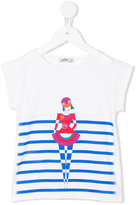 Junior Gaultier ballerina striped T-shirt - kids - Cotton/Spandex/Elastane - 6 yrs