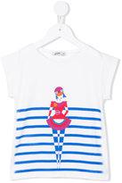 Junior Gaultier ballerina striped T-shirt - kids - Cotton/Spandex/Elastane - 8 yrs