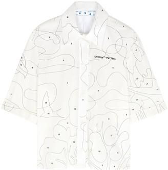 Off-White Puzzle white cotton shirt
