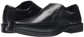 Dockers Edson Moc Toe Loafer (Black Polished Full Grain) Men's Plain Toe Shoes