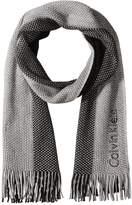 Calvin Klein Unisex Purl Ombre Stripe Scarf