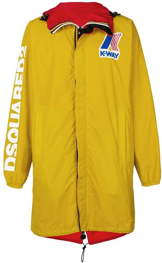 DSQUARED2 x K-Way reversible wind breaker coat