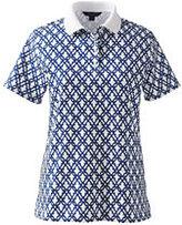 Classic Women's Tall Pima Polo Shirt-Rich Magenta Dots