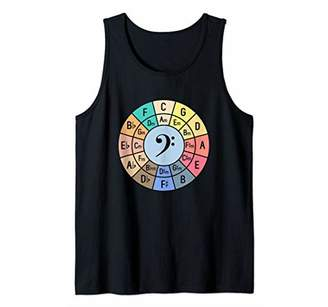 Musician Circle Of Fifths Color Coded Chords Bass Clef Gift Tank Top