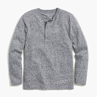J.Crew Boys' long-sleeve henley in supersoft jersey