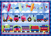 Fun Rugs Olive Kids Trains, Planes and Trucks Area Rug Rug