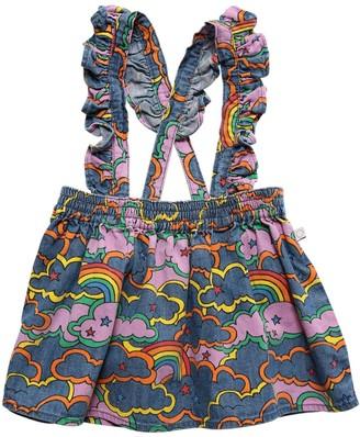 Stella McCartney Kids Cotton Denim Skirt W/ Suspenders