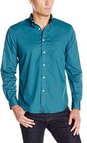 Dockers Long Sleeve Solid Cvc Woven Shirt, Dragonfly