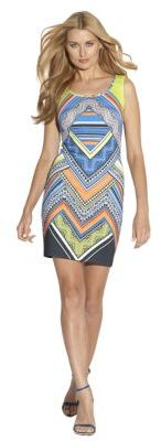 Laundry by Shelli Segal Printed Scuba Dress