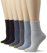 Gold Toe Women's Six-Pack Turn Cuff Socks
