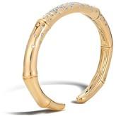 John Hardy Bamboo 18K Gold and Diamond Pavé Kick Cuff