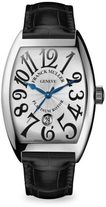 Franck Muller Cintree Curvex 47MM Stainless Steel Alligator Strap Watch