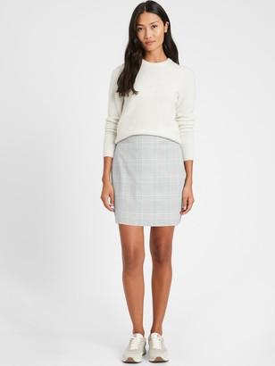 Banana Republic Plaid Bi-Stretch Mini Skirt