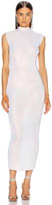 Helmut Lang Lurex Dress in Pearl | FWRD