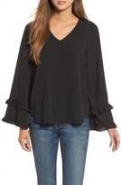 Pleione Women's Ruffle Bell Sleeve Top