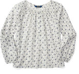 Ralph Lauren Floral Cotton Batiste Top