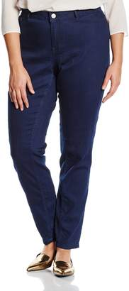 Junarose Women's JRQUEEN NW SLIM JEANS DARKBLUE SUPPLY -K Jeans Blue (Dark Blue Denim) 50