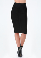 Bebe Petite Woven Bandage Skirt