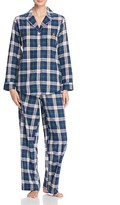 Ralph Lauren Notch Collar Long Sleeve Pajama Set