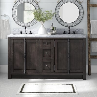 Modern Vanity The World S, Clemmie 61 Double Bathroom Vanity Set With Linen Tower