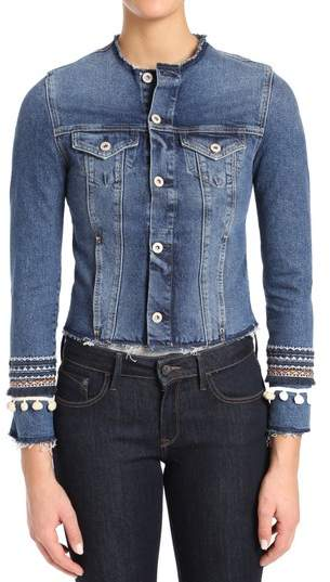 Mavi Jeans Petra Indigo Desert Deco Denim Jacket