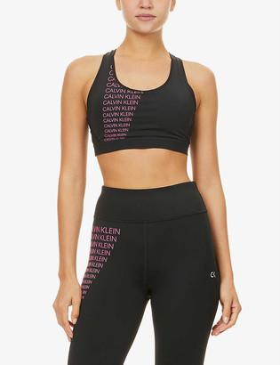 Calvin Klein Performance logo-print stretch-jersey sports bra
