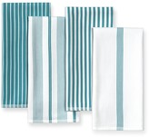 Williams-Sonoma Williams Sonoma Multi-Pack Striped Kitchen Towels, Set of 4, Aqua
