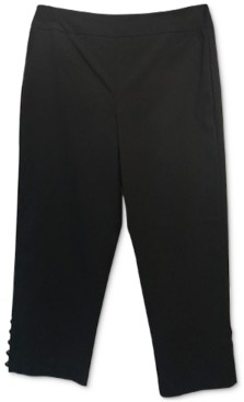 JM Collection Beaded Pull-On Tummy Control Capri Pants, Created for Macy's