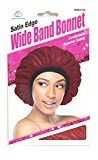 Dream Satin Edge Wide Band Bonnet Comfortable Superior #073 Red