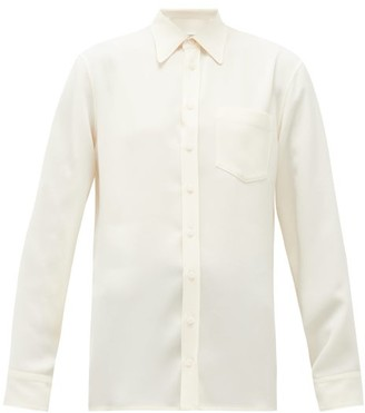 Maison Margiela Adjustable Off-shoulder Crepe Shirt - Ivory