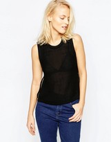 Brave Soul Cropped Knitted Top With Side Zips