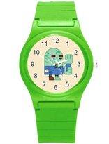 """Kidozooo Boys Girls RPG Zombie Character 1 3/8"""" Diameter Plastic Watch"""